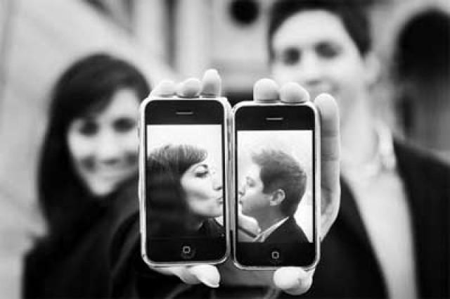 wedding photo - Iphone Kiss