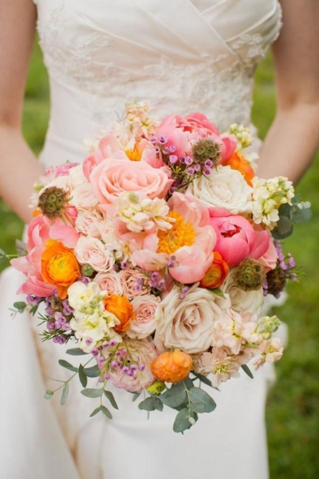 Дизайны букетов на свадьбу