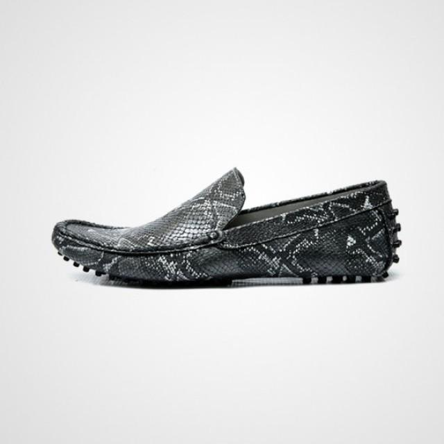 wedding photo - Best Sellers - Culzado Python Skin Mens Leather Loafer shoes