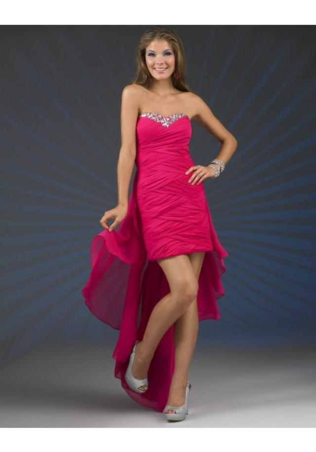wedding photo - Sleeveless Red Sweetheart High Low Sheath Column Homecoming Cocktail Dress