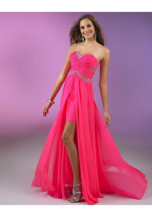 wedding photo - Sleeveless Pink Sweetheart High Low A Line Cocktail Dress