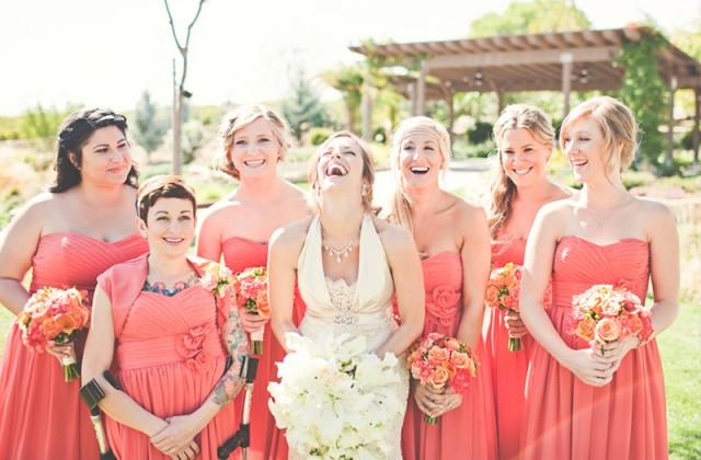 wedding photo - Coral Bridesmaids
