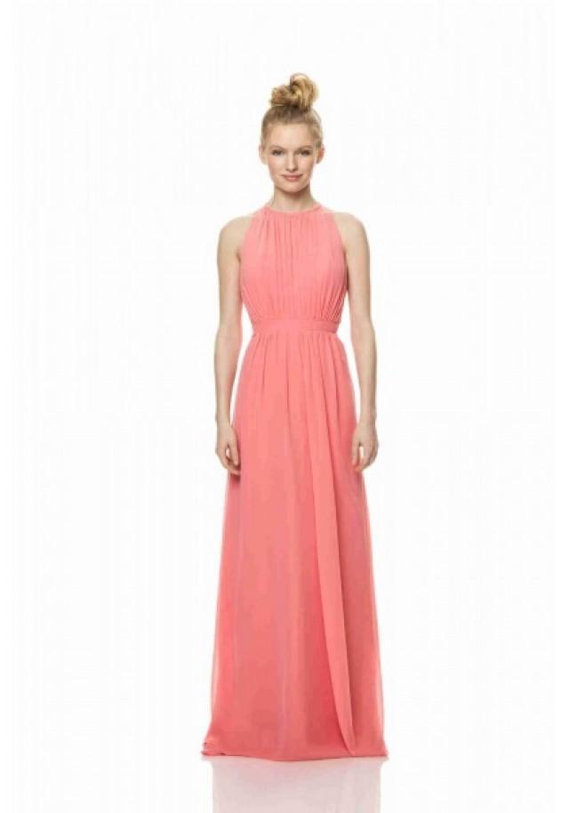 wedding photo - Tank Top Floor Length Pink A Line Bridesmaid Dress