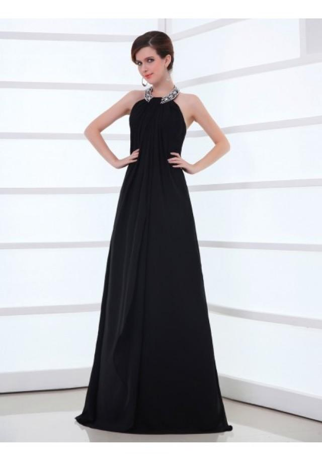 wedding photo - Jewel Floor Length Sleeveless A Line Evening Prom Dress