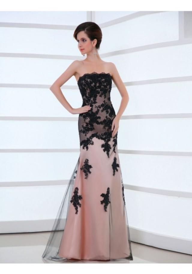 wedding photo - Strapless Floor Length Sleeveless Trumpet Mermaid Evening Prom Dress