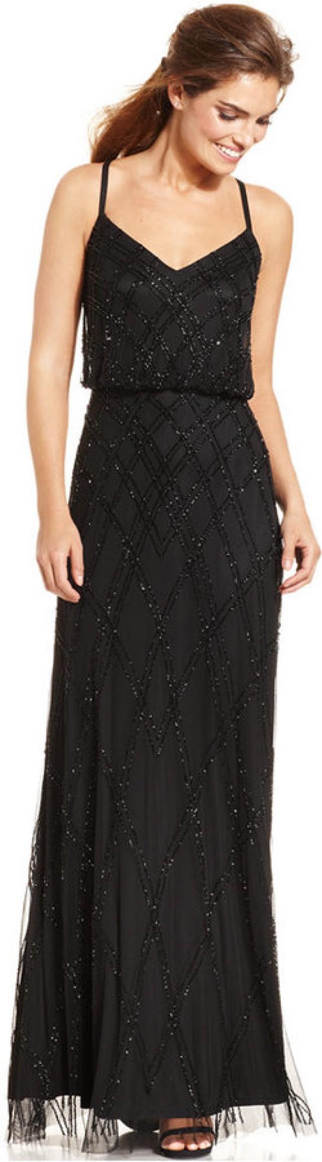Adrianna Papell Sleeveless Beaded Blouson Gown #2196695 - Weddbook