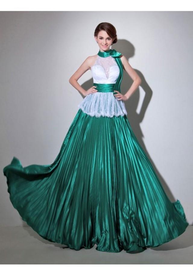 wedding photo - Jewel Brush Train Sleeveless A Line Evening Prom Dress