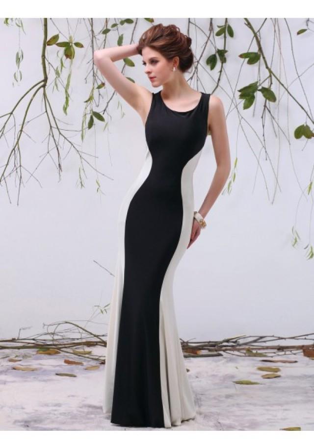 wedding photo - Tank Top Floor Length Sleeveless Trumpet Mermaid Evening Prom Dress