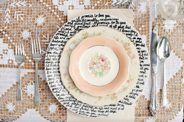 10 Ideas For Charger Plates Intimate Weddings Small Wedding Blog Diy And Real Weddbook