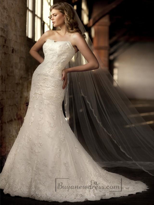 Elegant Sweetheart Lace Emboridered Mermaid Wedding Dresses 2197449