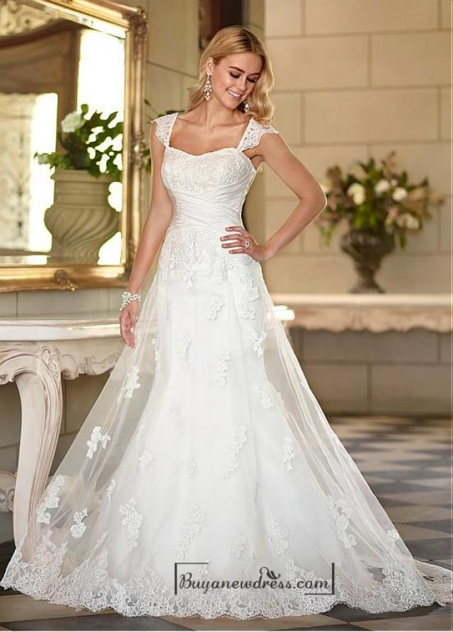 Alluring tulle sweetheart neckline raised waistline a line for A line sweetheart tulle wedding dress