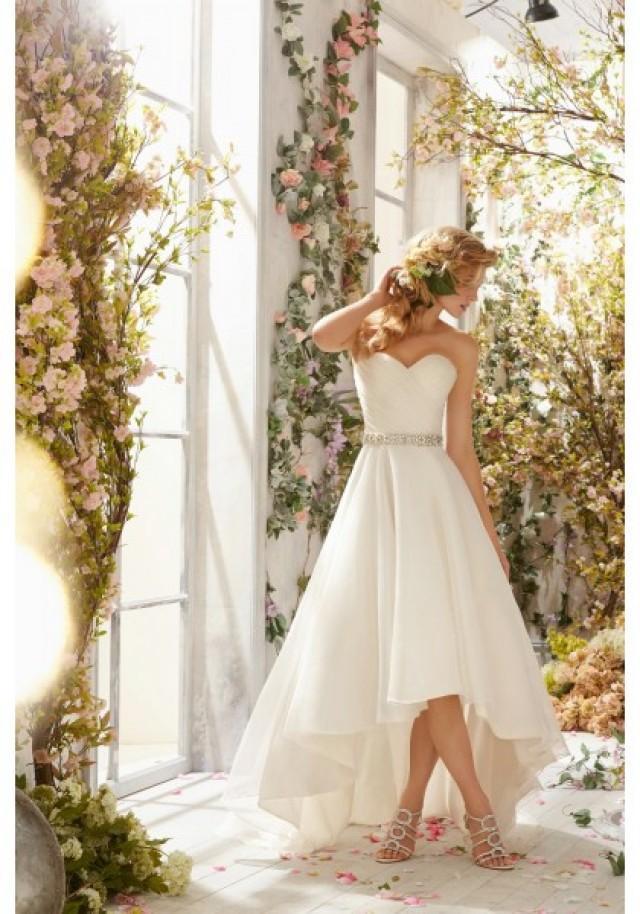 wedding photo - Sweetheart High Low Organza A Line Wedding Dress