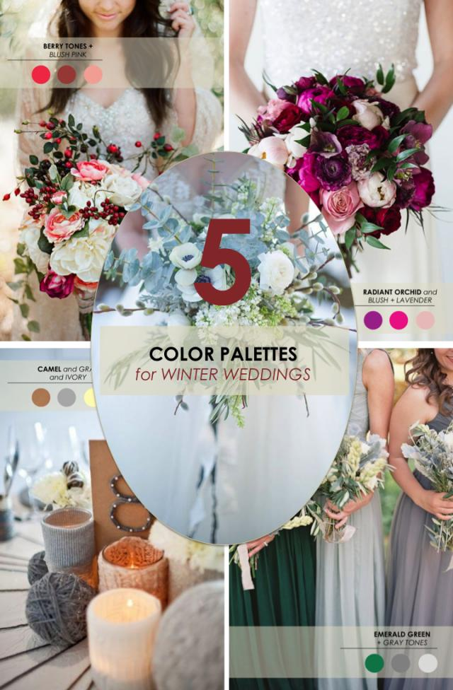 5 winter wedding color palettes weddbook for Winter wedding color palettes