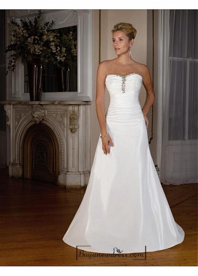 wedding photo - Beautiful Elegant Exquisite Sweetheart A-line Tffeta Wedding Dress In Great Handwork