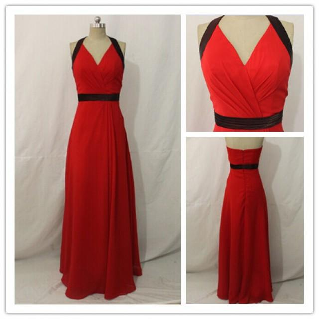 wedding photo - 2015 Red Long Evening Dress & Party Dress & Homecoming Dress For Discount