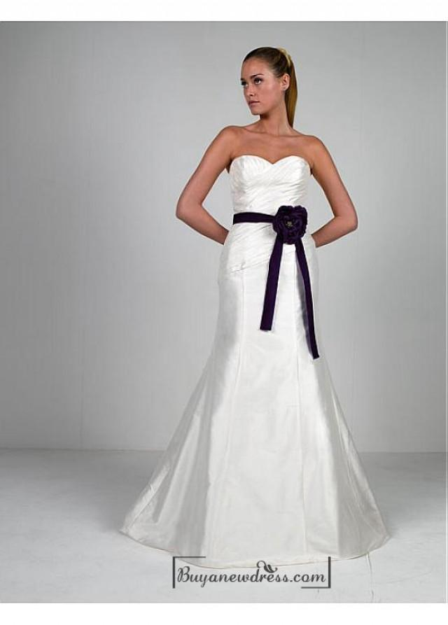 wedding photo - Beautiful Elegant Taffeta & Satin Sweetheart Wedding Dress In Great Handwork