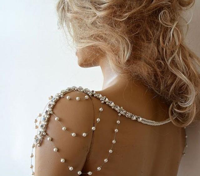 Wedding Rhinestone Jewelry, Wedding Dress Shoulder