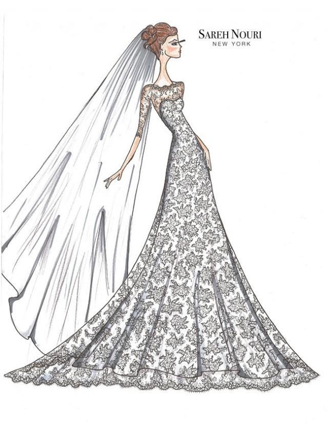 from sketch to gown wedding dress designer sketches wedding blog