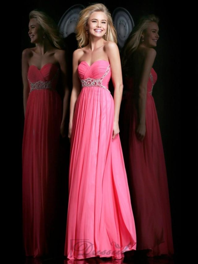 wedding photo - Strapless Plunging Sweetheart Ruched Bodice Floor Length Prom Dresses