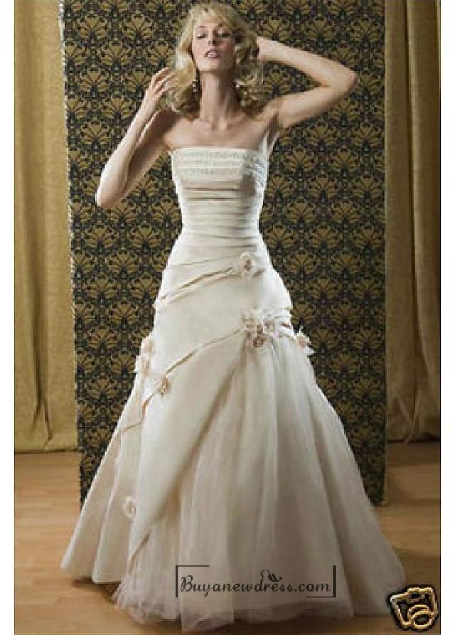 wedding photo - Beautiful Elegant Exquisite Taffeta A-line Wedding Dress In Great Handwork
