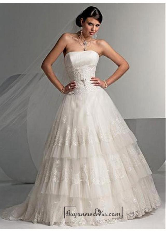 wedding photo - Beautiful Elegant Exquisite Wedding Dress In Great Handwork