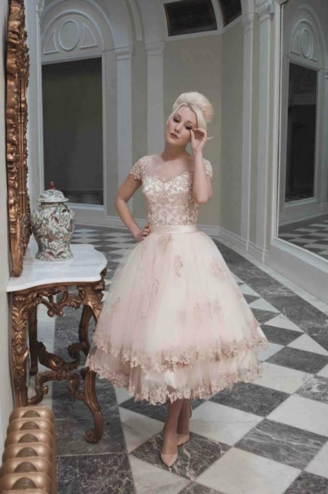 1950 S Inspired Pink And Gold Weddings
