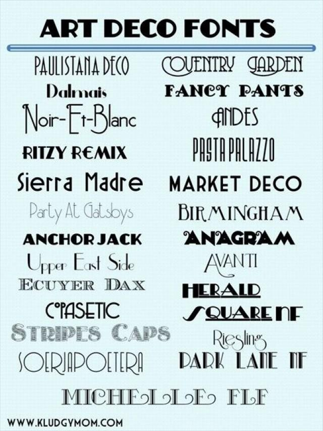 Great Gatsby Wedding Art Deco Fonts 2203466 Weddbook