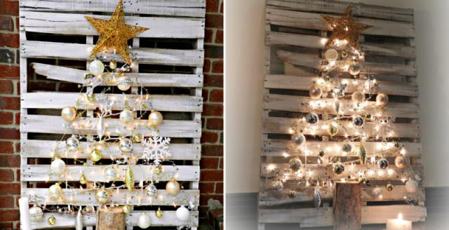 how to make pallet christmas tree diy crafts handimania weddbook - How To Make A Pallet Christmas Tree