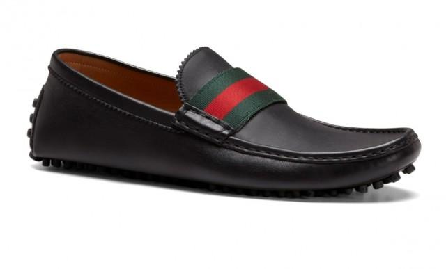 Gucci mens driver black loafers pebble sole shoes 2203790 weddbook