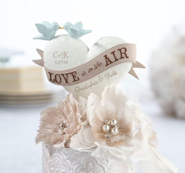"""wedding photo - """"Love Is In the Air"""" Caketop"""