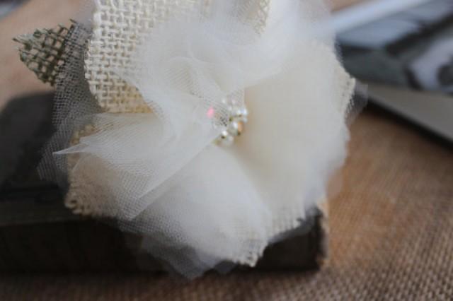 wedding photo - Guest Book Pen Sharpie-Guestbook-Rustic Vintage Wedding Pen-Burlap Flower Pen-Shabby flower pen-ivory/white flower