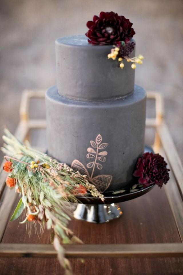 wedding photo - Wheat Nouveau Fall Wedding Inspiration