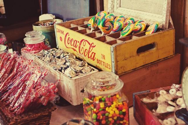 wedding photo - Vintage Candy Buffet