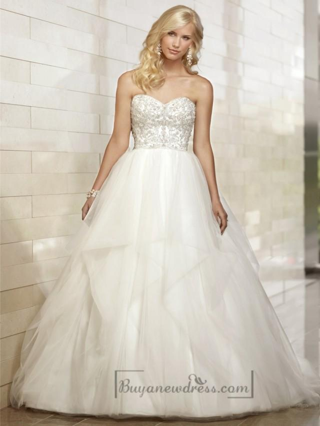Gorgeous Sweetheart Beaded Bodice Ball Gown Wedding Dresses 2207149