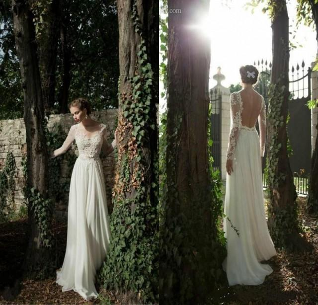 Cheap wedding dresses discount 2014 a line backless for Backless wedding dresses online