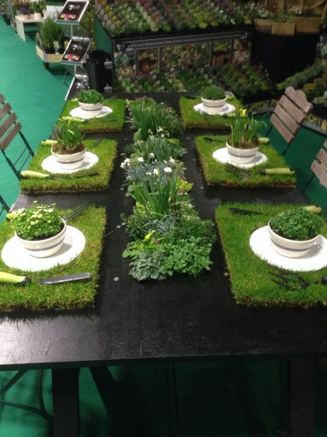 Garden wedding garden tablescapes 2208709 weddbook for Garden display ideas