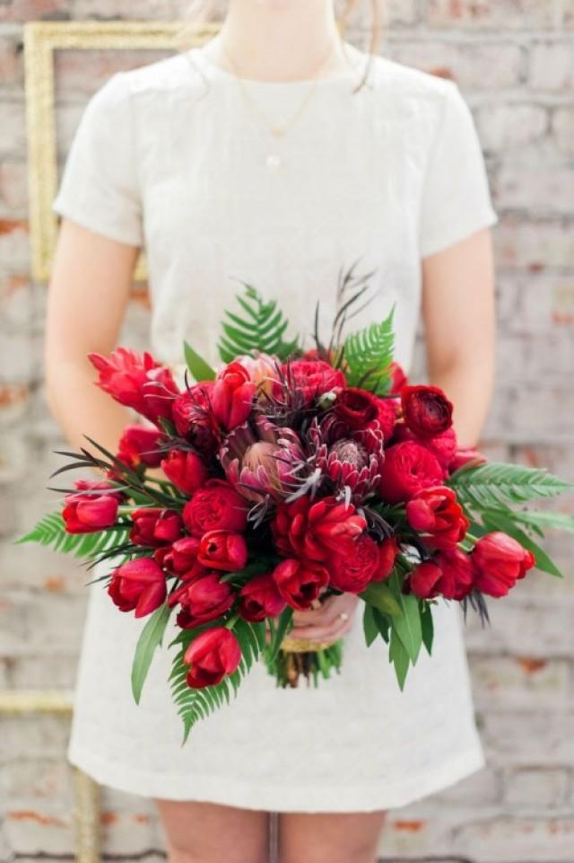30 Stunning Valentine 39 S Day Wedding Bouquets Weddingomania