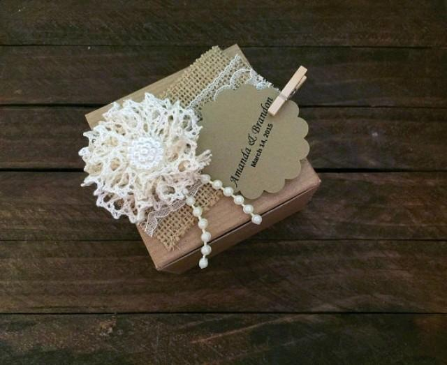wedding photo - 10 rustic kraft favor box, wedding, bridal shower, baby shower, anniversary, party gift box, candy box.