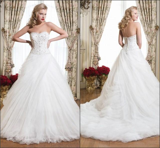 Discount 2015 Spring Justin Alexander Wedding Dresses Chapel Beads Lace A Line Train Custom Made