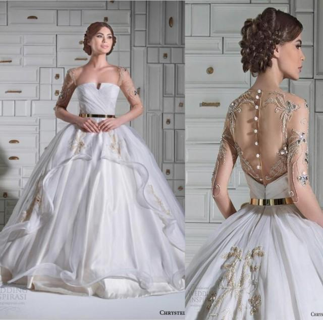 Cheap new arrival discount 2015 new chrystelle atallah for Cheap and beautiful wedding dresses