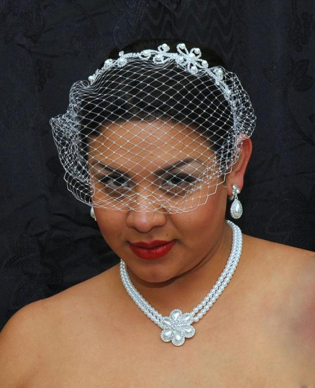 Wedding Hairstyles With Headband And Veil: Birdcage Veil, Bridal Headpiece, Birdcage Veil Headband