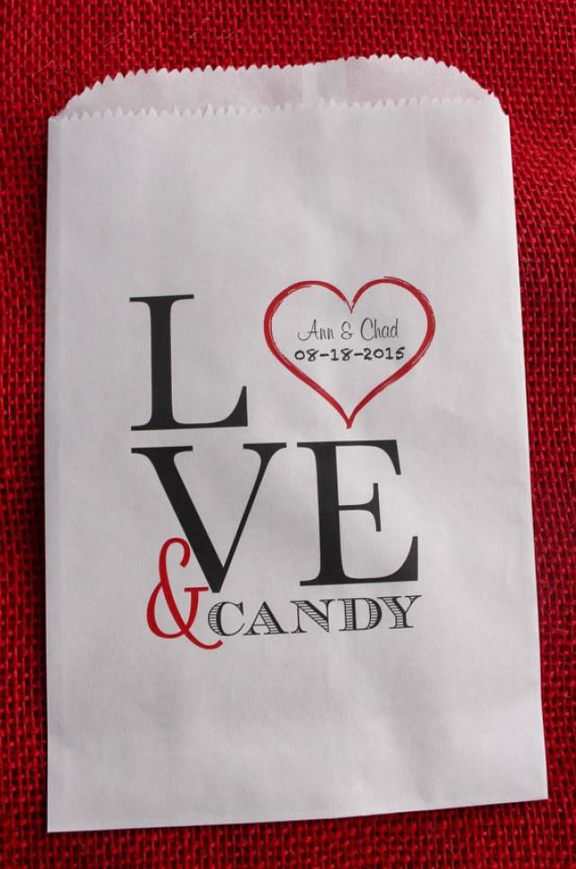 Wedding Gift Bags For Candy : Wedding Favor Bags-Candy Buffet Bags-Wedding Bags Personalized ...