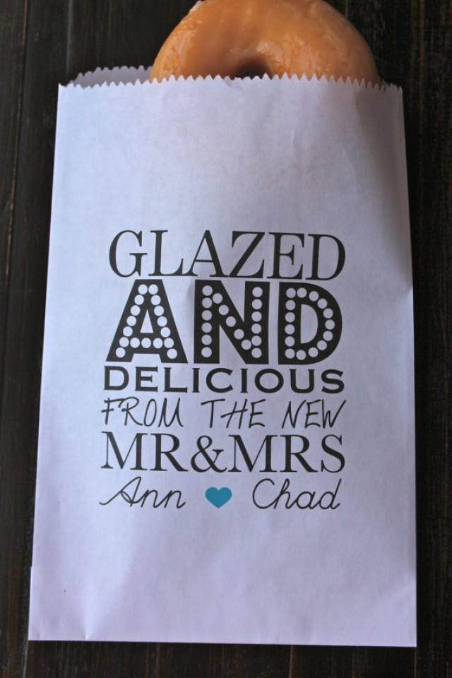 wedding photo - Glazed and Delicious Wedding Favor Bags/ Personalized Favor Bags