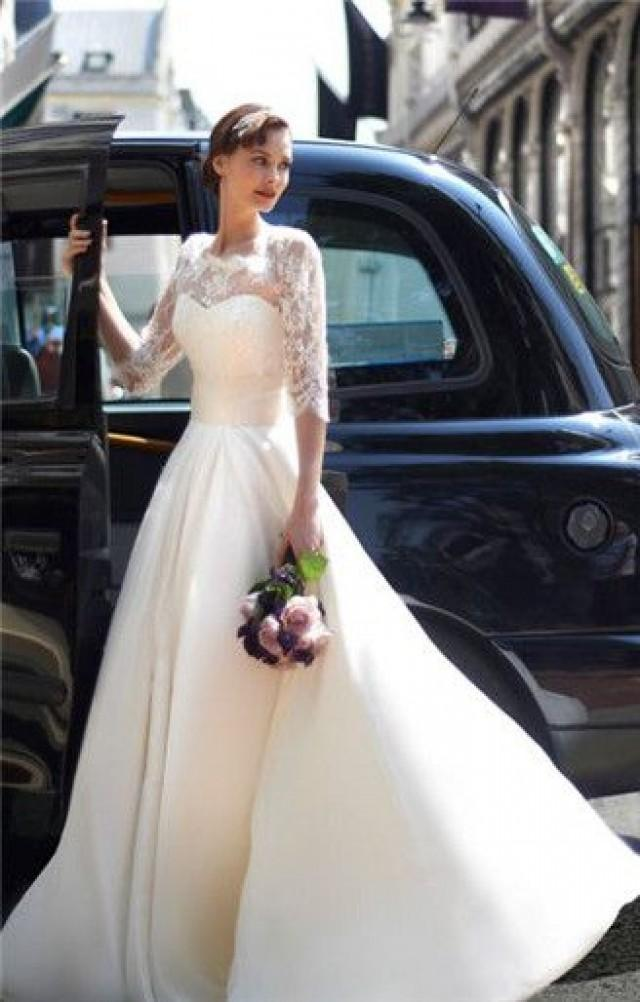 Стильное свадебное платье своими руками 17