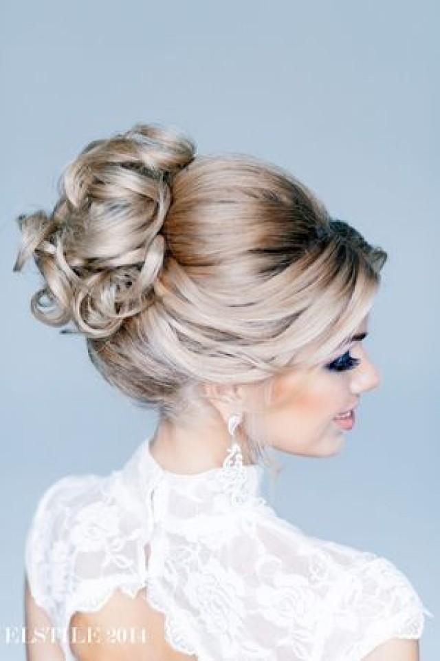 Красивые убранные прически на средние волосы