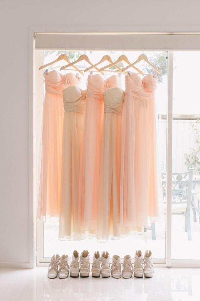 wedding photo - Coral Bridesmaid Dresses