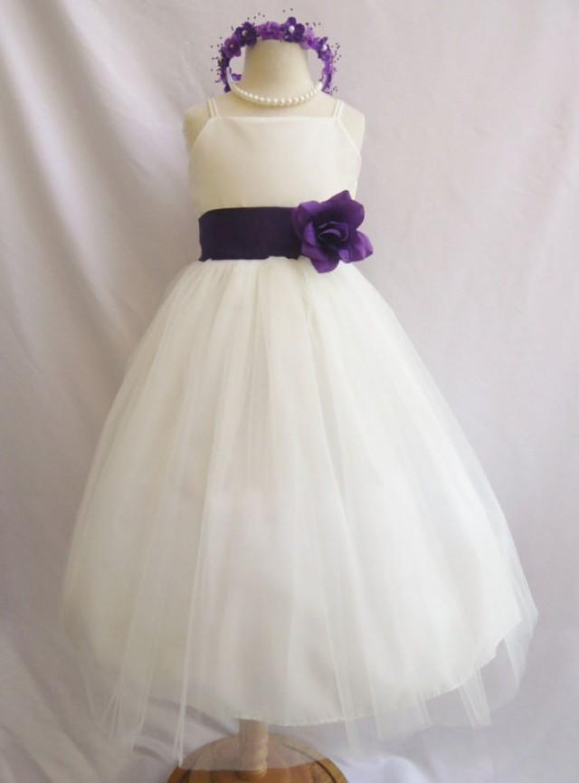 Flower girl dresses ivory with purple fd0rb2 wedding for Dresses for teenagers for weddings