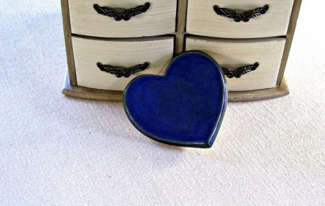 Ceramic Heart Dish Ring Bowl Ring Bearer Bowl Wedding Ring