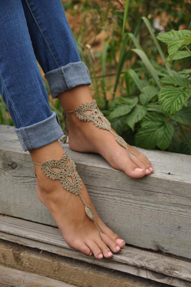 Thanks for Beach wedding barefoot sandal crochet simply matchless