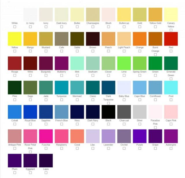 Color Swatches For Custom Wedding Shoes Amp Accessories
